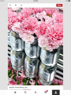Silver pink jars