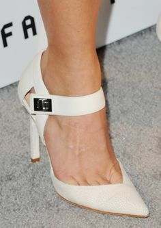 The Red Carpet Shoes That Seriously Wowed Us This Year: In April, Julianne Hough showed off creamy heels with a turn lock at the ankle.