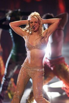 """Then the most epic VMA medley of all time happened. It starts with """"Satisfaction"""" and leads into """"Oops."""" 