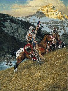 Blackfoot Raiders - artist Frank McCarthy
