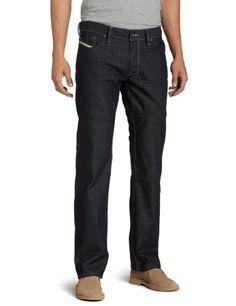 Diesel Men's Larkee Regular Straight Leg Jean 0088Z, Denim, 32x34 for sale