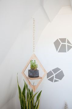 Mid Century Planter // Jungalow Hanging Planter // by weareMFEO