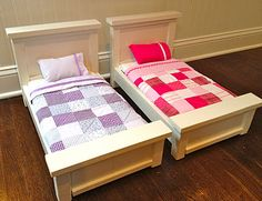 The perfect American Girl doll beds - with instructions