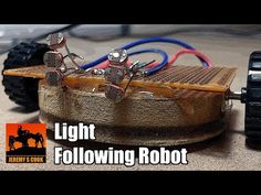 """This instructible will show you how to make a light following """"robot"""" using only a couple batteries, light dependent resistors, and a pair of motors. Robot..."""