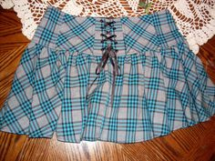 Skirt Candies upcycle Tie ups in back by SummersBreeze on Etsy, $14.99