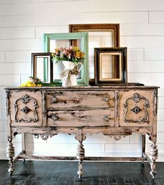 antique pink buffet w sweet pickins milk paint, painted furniture, painting Shabby Chic Furniture, Rustic Furniture, Antique Furniture, Living Room Furniture, Home Furniture, Modern Furniture, Furniture Ideas, Geek Furniture, Furniture Buyers