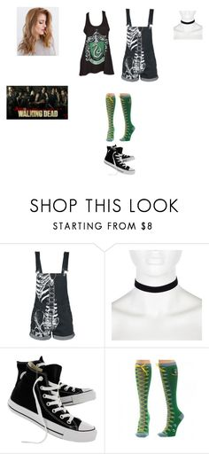 """""""Taegan Easterly: """"Walking Dead Cast Member"""""""" by ghoul1010 ❤ liked on Polyvore featuring River Island and Converse"""