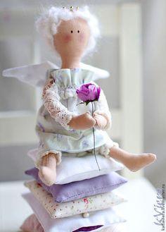 Принцесса на горошине тильда ангел. Handmade.