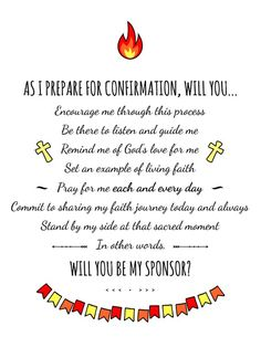 Will You be my Confirmation Sponsor Card Confirmation Quotes, Confirmation Sponsor, Catholic Confirmation, Confirmation Letter, Catholic Prayers, Catholic Sacraments, United Church Of Christ, Letter To My Daughter, Boy Quotes