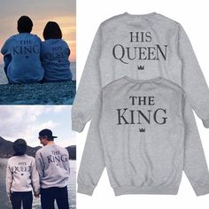 The King His Queen Matching Sweatshirts for Couples cdd7fafb2