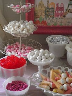 Paris Party ~ Pink & White Candy Buffet