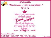 Stickdatei Stickmuster - Prinzessin 4 - 10x10