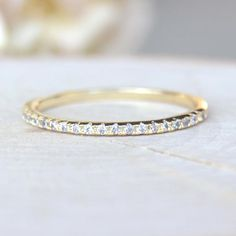 Imitation Wedding Band Eternity Stacking Ring