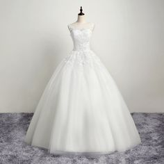 HS386 Bridal White/ivory Ball Gown Both Shoulders Elegant Bridal Dress with Lace Up Back