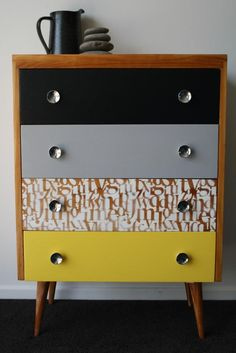 9 Blessed Clever Ideas: Furniture Restoration Before And After refurbished furniture thrift stores. Painted Bedroom Furniture, Funky Furniture, Upcycled Furniture, Furniture Projects, Furniture Makeover, Home Furniture, Furniture Design, Painted Dressers, Distressed Furniture