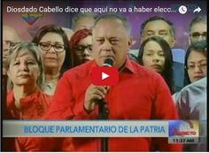 Diosdado Cabello afirma que no habrán más elecciones en Venezuela