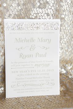 lisa paul s gold new year s eve wedding invitations happy new