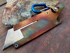 Custom Knive and Titanium Carabiner