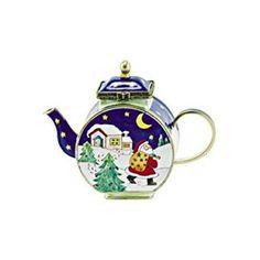 Kelvin-Chen-Enameled-Miniature-Tea-Pot-Santa-Clause-Copper-Teapot-Trinket