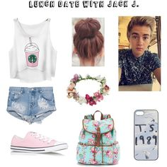 Lunch date with Jack J. by madyd on Polyvore featuring polyvore fashion style One Teaspoon Converse Candie's Topshop