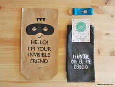 Paquete para envolver regalo amigo invisible