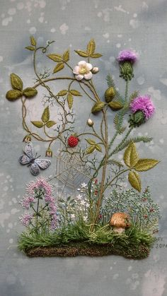 Wonderful Ribbon Embroidery Flowers by Hand Ideas. Enchanting Ribbon Embroidery Flowers by Hand Ideas. Hand Embroidery Stitches, Silk Ribbon Embroidery, Embroidery Needles, Crewel Embroidery, Embroidery Techniques, Cross Stitch Embroidery, Embroidery Patterns, Machine Embroidery, Embroidery Supplies