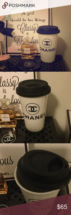 Chanel Ceramic Coffee Cup ☕️ Brand new! Just received my fall Chanel VIP Gifts! Authentic Chanel Coffee mug. 500ml. About 6 inches tall including lid. Lid is soft silicone. Instead of using the mundane Starbucks cup, drink your favorite blend in style! Also comes with clear heat safe band to protect your hands. CHANEL Makeup