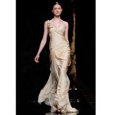 White and Gold Wedding. Bridesmaid Dress. I love this. Rosa Clara.