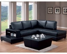 black living room furniture with neutral walls Black Furniture Living Room Ideas