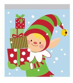 (120/case) Christmas Elf Sandwich Bag