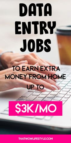 Looking for the best legit stay at home jobs that pay well in Check out this guide on the best data entry jobs for beginners to make extra money online from home. earn money working from home with a side gig contracting job Earn Money From Home, Earn Money Online, Make Money Blogging, Way To Make Money, Saving Money, Money Fast, Saving Tips, Making Money From Home, Money Today