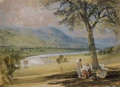 Joseph Mallord William Turner 'The Wharfe from Farnley Hall', c.1818 courtesy Private Collection, UK