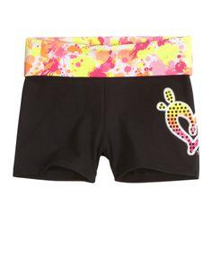 Paint Splatter Waistband Yoga Shorts | Active | Shorts | Shop Justice
