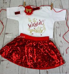 70c878536 Baby Girl Christmas Outfit, Baby's First Christmas, Baby Girl Christmas  Dress, Baby's 1st Christmas, Baby Girl Clothes, Christmas Baby Girl by  WeebieCuties ...