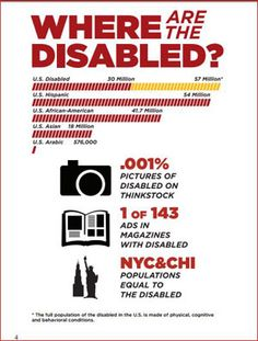 the disability representation in the media 35 media representation of disability and effects on the audience the stereotypical portrayal of disabled people within popular culture is one of the most significant factors contributing to the discrimination of disabled people.