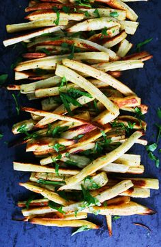 BAKED PARSNIP FRIES & GOCHUJANG KETCHUP http://www.kitchenathoskins.com/2017/01/18/baked-parsnip-fries-with-gochujang-ketchup/