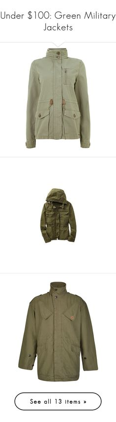 """""""Under $100: Green Military Jackets"""" by polyvore-editorial ❤ liked on Polyvore featuring under100, greenmilitaryjackets, Levi's, Gap, Madewell, Dawn Levy, Topshop, outerwear, jackets and coats"""