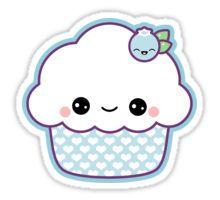 Cute Blueberry Cupcake Art Print by Sugarhai Art Drawings For Kids, Doodle Drawings, Cartoon Drawings, Cute Kawaii Drawings, Kawaii Doodles, Kawaii Stickers, Cute Stickers, Wallpaper Iphone Cute, Cute Wallpapers