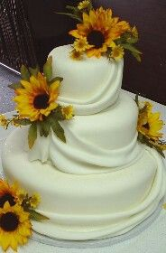 Sunflower cake simple and cute