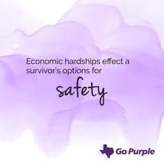Each year, over 100 Texas women lose their lives to domestic violence. During Domestic Violence Awareness Month, we challenge all of Texas to Go Purple and strive for a state where no one loses their life as a result of domestic violence. Go Purple by standing up for domestic violence victims and survivors and taking action to end violence in our communities.Use the tools and resources below to power your advocacy work in your community in October and throughout the year.