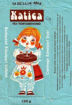 Katica táblás csokoládé (tej-tortabevonó) (80's)