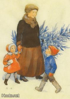 children in art history Christmas Illustration, Children's Book Illustration, Book Illustrations, Vintage Images, Vintage Art, Vintage Christmas, Christmas Tree, Christmas Cards, Family Painting