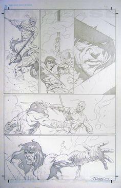 Conan #50 pg 35 - Giorello Comic Art