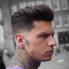 Short Sides, Long Top Hairstyle - Thick Textured Medium Hair + Low Fade Haircut - Best Men's Hairstyles: Cool Haircuts For Men. Most Popular Short, Medium and Long Hairstyles For Guys Cool Hairstyles For Men, My Hairstyle, Cool Haircuts, Hairstyles Haircuts, Men Hairstyle Short, Top Haircuts For Men, Female Hairstyles, Retro Hairstyles, School Hairstyles