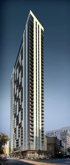 Centro Condo Tower Miami, Florida by Sieger Suarez Architectural Partnership :: 37 floors, residential