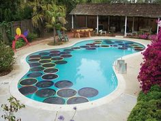 Heat your pool idea...Use black plastic and adhere it to hoola hoops...throw them in the water... the back plastic attracts the sun's rays and heats up the pool...efficient and economical!! ;))