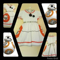 OK, so maybe you don't want a cushy little BB-8 doll, but instead, actually want to be BB-8. While we can't help turn you into an adorable metal droid, we can recommend this very stylish dress inspired by everyone's favorite roly-poly. Buy here.