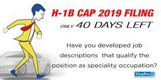 40 Day H1B Cap Red Alert: Avoid #H1B petition denial by developing job descriptions that clearly demonstrate the need for a bachelor's degree in a specialty occupation to perform the job duties. #h1bvisa #h1bcap #immigration #immigrationlawyer