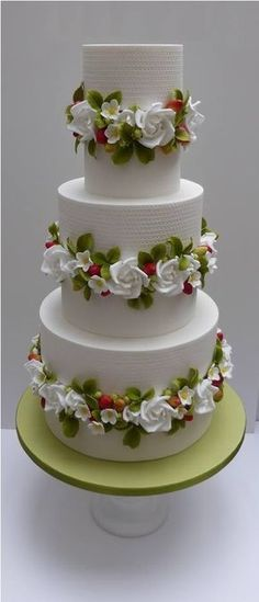 white and lime green wedding cake inspiration For more cake inspiration check out my 50 Lovely Celebratory Cakes for Wedding, Birthday and Occasions Elegant Wedding Cakes, Elegant Cakes, Beautiful Wedding Cakes, Gorgeous Cakes, Wedding Cake Designs, Pretty Cakes, Cute Cakes, Amazing Cakes, Tier Wedding Cakes