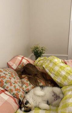 Room Decor Bedroom, Bedroom Inspo, Baby Animals, Cute Animals, Girl Sleeping, Looks Vintage, Dream Rooms, Decoration, My Room